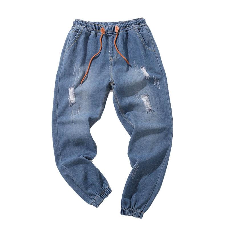 2018 New Fashion Men's Blue   Jeans   Joggers