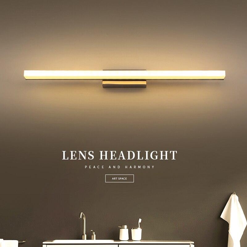 Badkamer Muur Lampen 40 Cm-60 Cm Led Wandlamp Moderne Eenvoudige Spiegel Voor Wandlampen Led Acryl Muur Lamp Badkamer Licht Aromatische Smaak