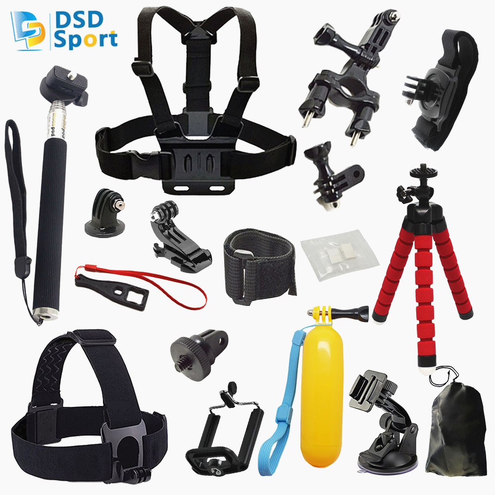 Galleria fotografica DSD TECH for Gopro session Accessories Kit tripod for Go Pro Hero 5 4 3+ 3 Action Camera sjcam SJ4000 SJ5000 Xiaomi Yi 4K 06D