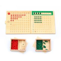 Montessori Mathematics Multiplication Division Board Math Plate Teaching Kids Early Learning Educational Toys
