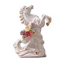 Modern minimalist ceramic horse ornaments Office den entrance wine cabinet home creative furnishings European AP4261412