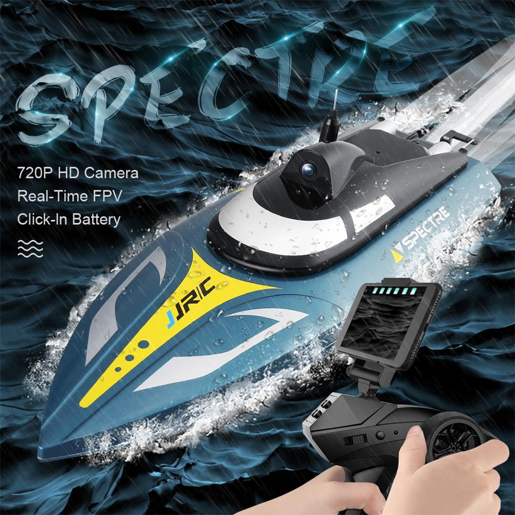 JJRC S4 Large High speed Speedboat WIFI Real time Image Transmission Aerial Photography Racing Speedboat Water