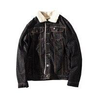 Denim Jacket Men Winter Jackets And Coats For Men Thick Velvet Casual Jeans Menswear Winter Jacket