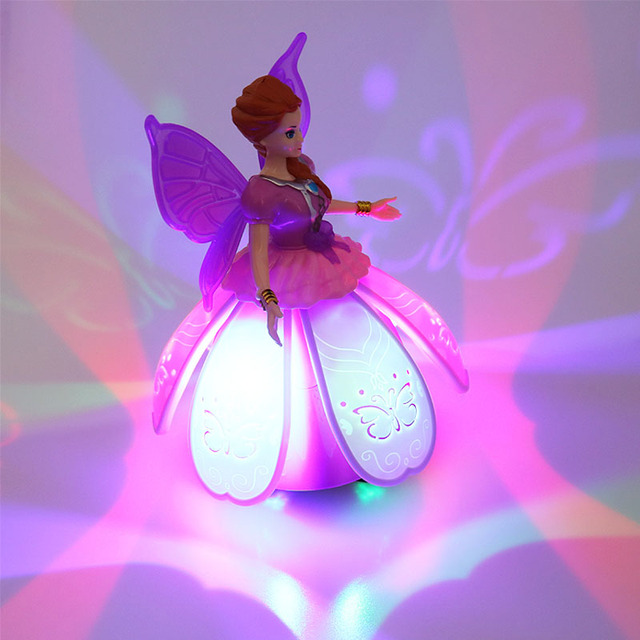 Baby Electronic Dance Angle Music Toys For Kids Electric Pink Butterfly Dancing Princess Toy For Girls Funny Educational Toys