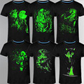 2017 Новый 3D футболки мужчин Досуг Люминесцентная Персонализированные С Коротким рукавом Световой Футболка Лето Топы Мужчины Футболки легкую одежду
