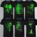 2017 Nuevo 3D hombres camiseta de Ocio Fluorescente Personalizada de manga Corta Luminosa Camiseta de Verano Tops Hombres Camiseta ropa ligera