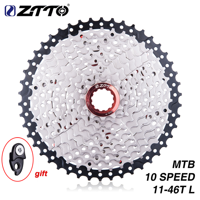 ZTTO 11-46 T 10 vitesses 10 s rapport large vtt VTT pignon de Cassette de vélo pour pièces m590 m6000 m610 m780 X7 X9