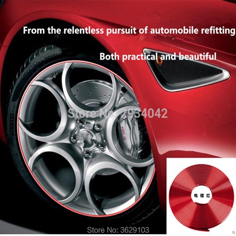 8m car-styling upgrade plating contour decorative adhesive paste accessories for mazda 3 6 2 5 CX-5 CX-7 CX-3 323 ATENZA Axela