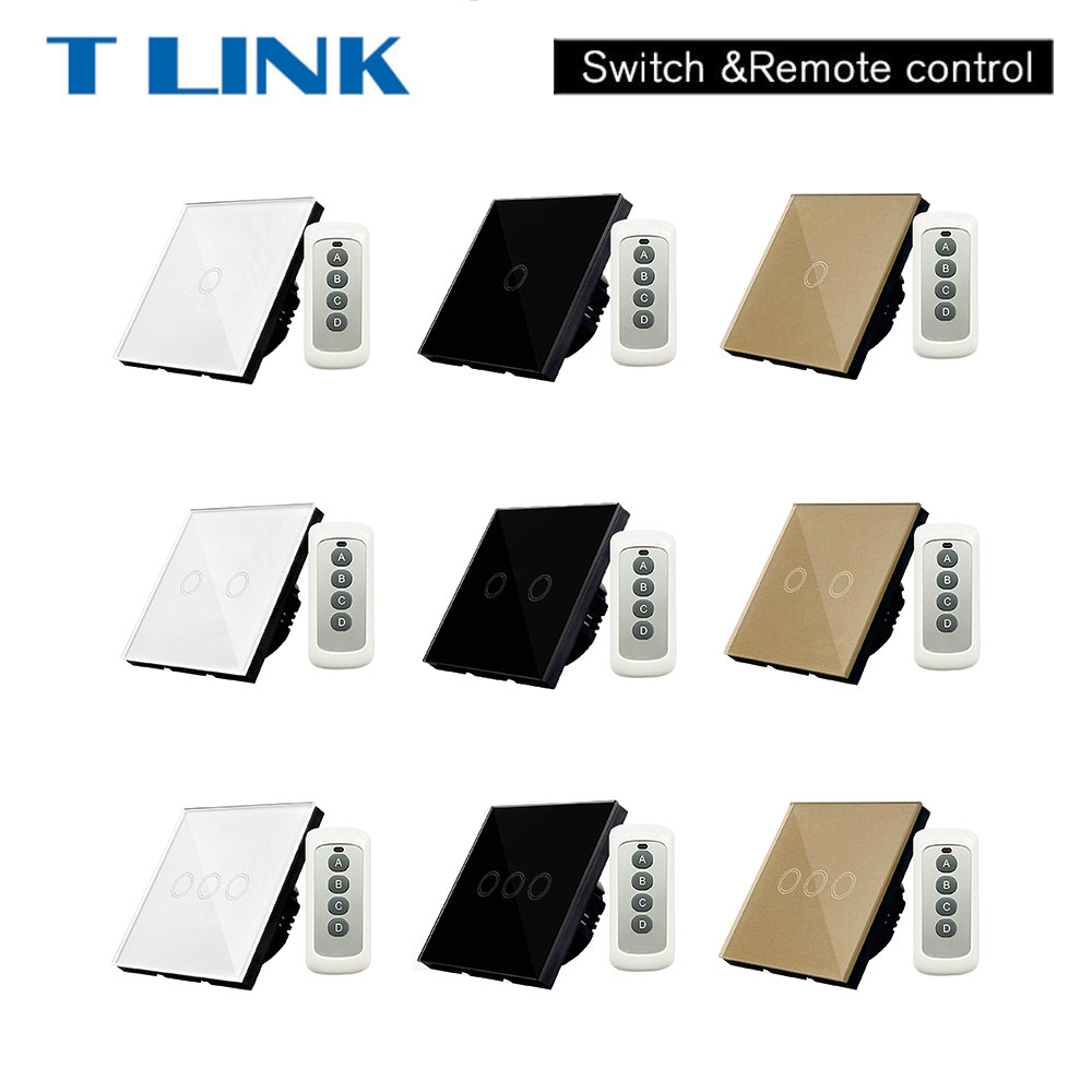 TLINK EU Standard 1 gang Wall Remote Control Switch Wireless touch Switch eu us smart home remote touch switch 1 gang 1 way itead sonoff crystal glass panel touch switch touch switch wifi led backlight