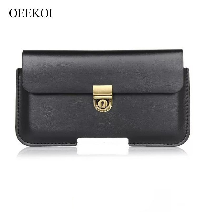 OEEKOI PU Leather Belt Clip Pouch Cover Case for Digma <font><b>LINX</b></font> <font><b>A501</b></font> 4G/CITI Z520 3G/VOX FLASH 4G/VOX S503 4G/CITI Z510 3G 5 Inch image