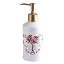 European style ceramic hand washing liquid shampoo bottles Romantic cottage rose Violet lavender Love Paris Tower Dispenser