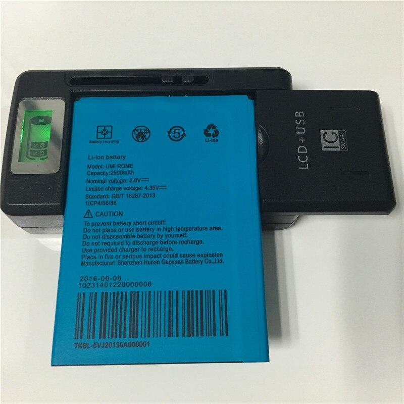 imágenes para 3.8 V 2500 mAh UMI ROMA X Batería + YIBOYUAN SS-8 Pantalla LCD Cargador Universal