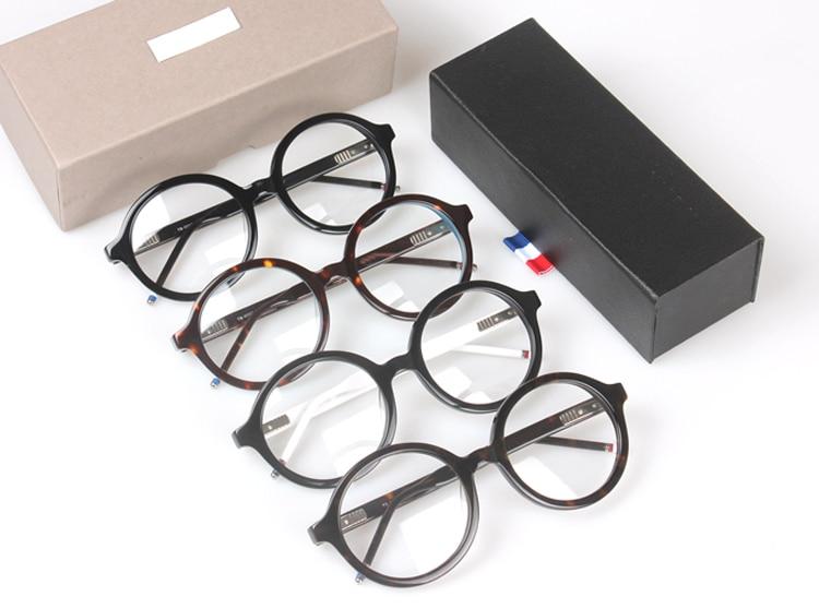 New York Brand Thom Vintage round Eyeglasses Frames glasses men and women TB500 Fashion Glasses Computer