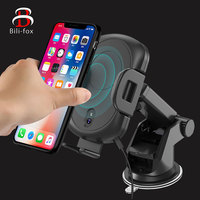 Car Wireless Charger Holder For Phone tablet Fast Infrared Induction Sensing Bracket Multi Rechargeable Car phone Sucker Holder
