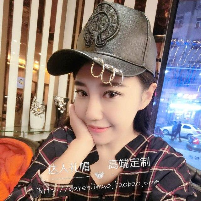 Новая зимняя бейсболка джокер hat металлическое кольцо кроу сердце хан издание крышка украшали шляпы для мужчин и женщин
