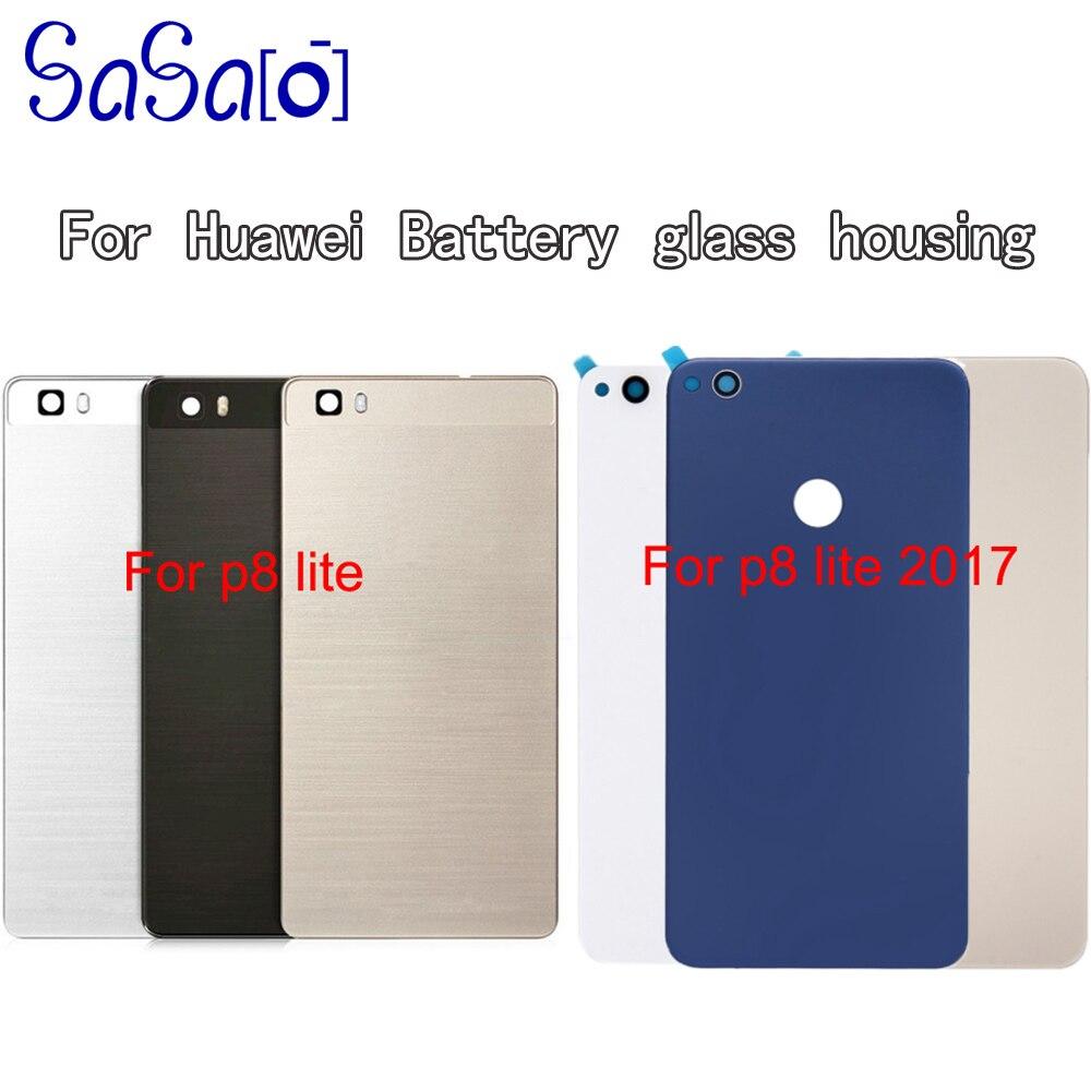 5 2 For Huawei P8 Lite p8llite 2017 PRA LX3 Back Battery Cover glass Rear Door