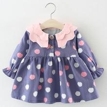 Melario Baby Dresses 2019 New Spring Autumn Baby Girls Clothes Cartoon Printing Girls Party Dress Princess Dress Newborn Dress