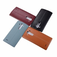 Original Real Leather Back Battery Cover Housing Door For LG G4 Battery Cover All Version With