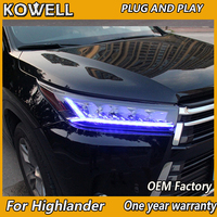 Car Styling for Toyota Highlander Headlights 2018 New Kluger/highlander ALL LED Headlight LED DRL Dynamic turn signal