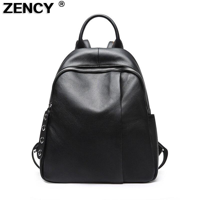 Bagaj ve Çantalar'ten Sırt Çantaları'de ZENCY 100% hakiki deri kadın alışveriş çantaları ilk katman inek deri bayan okul rahat tasarımcı çantası dana sırt çantası'da  Grup 1