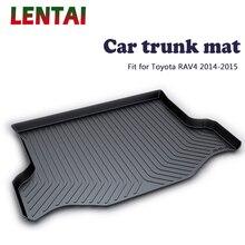 цена на EALEN 1PC Car rear trunk Cargo mat For Toyota RAV4 2014 2015 Car Boot Liner Tray Waterproof carpet Anti-slip mat Accessories