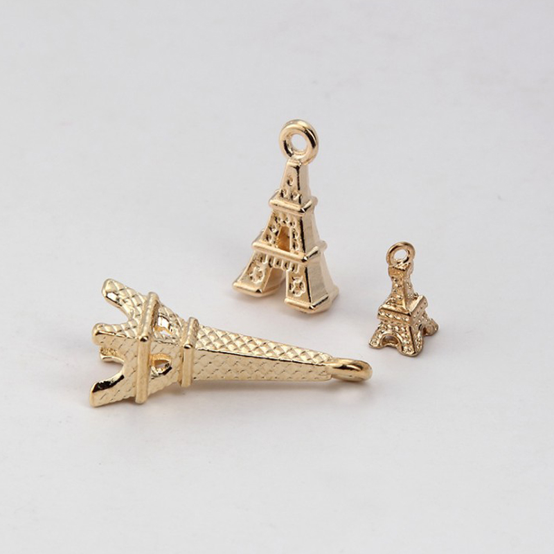 Wholesale Women 20pcs pack Vintage Gold Tower Necklace Pendant Connector Jewelry Findings branches Charms Accessories in Jewelry Findings Components from Jewelry Accessories