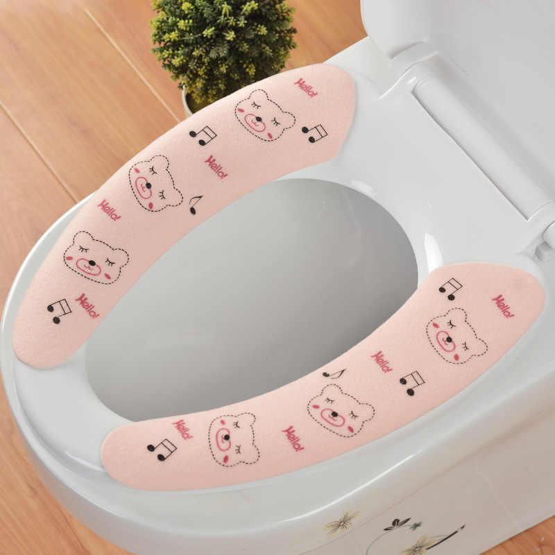 Новый 1 пара милый мультфильм туалет сиденье ковер домашний туалет утепленное сиденье крышка Накладка мягкий удобный детский горшок ободок для унитаза Чехол коврик