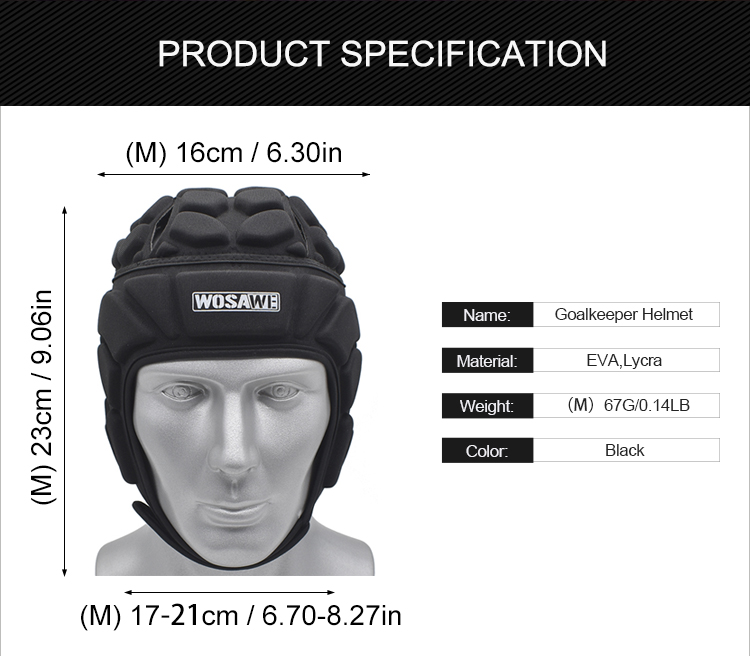 Image 4 - WOSAWE Motorcycle Headgear Protective Gear Men Women Sports Ice Hockey Guard Goalie Hat Head Protector Soccer Goalkeeper Helmet-in Protective Gears Accessories from Automobiles & Motorcycles