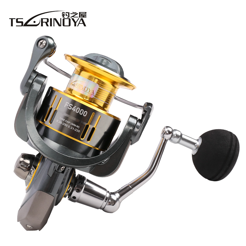 TSURINOYA FS4000/5000 Spinning Fishing Reel 11Kg/9+1BB/ 5.2:1 Full Metal Jigging Ocean Boat Reels Carretes Pesca Molinete Peche tsurinoya spinning fishing reel 9bb 5 2 1 full metal 2000 5000size ocean boat lure reels carretes pesca molinete fishing wheel