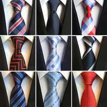 2019 High Quality Fashion Mens Stripe Silk Neckties Yellow White Blue Jacquard Woven Tie for Men Polka Dots Ties Plaid Gravatas