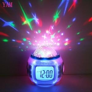 Image 1 - Sky Star Children Baby Room Night Light Projector Lamp Bedroom Music Alarm Clock S08 Wholesale&DropShip