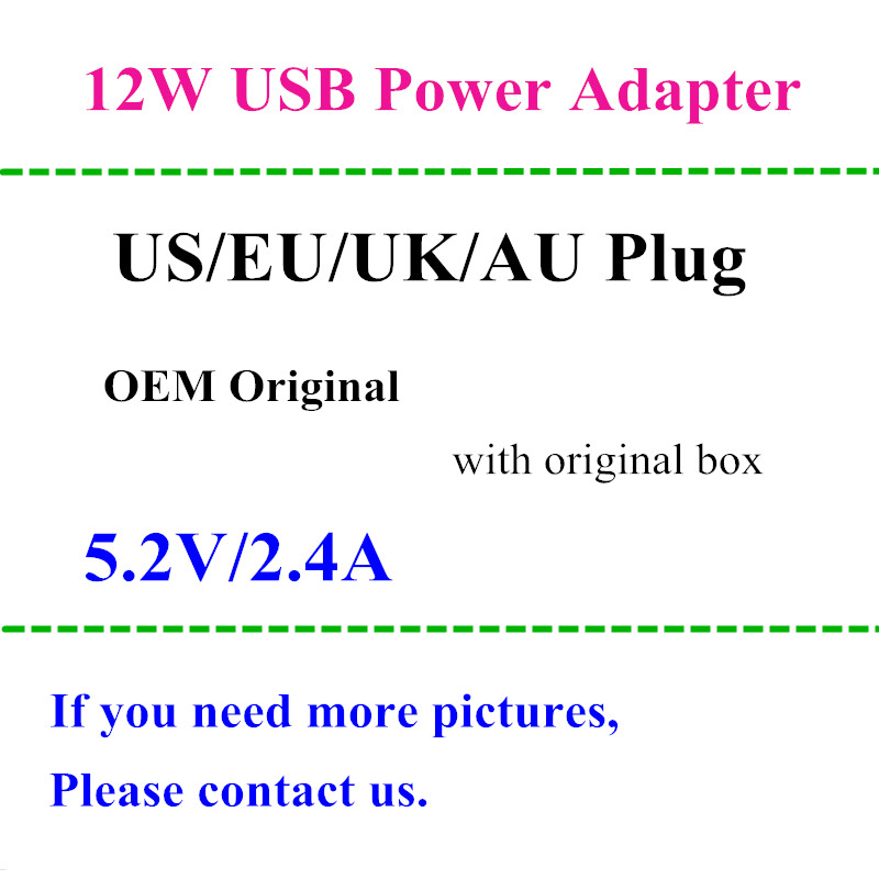 10pcs lot EU US AU UK plug 12W USB Power Adapter AC home Wall Charger 5