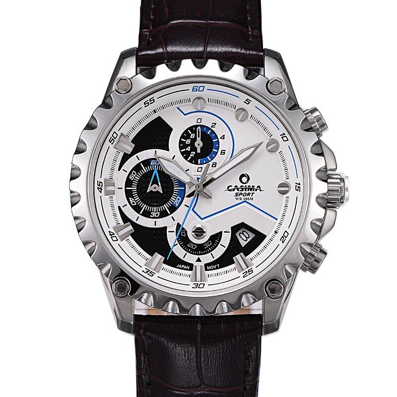 Новый Элитный бренд часы Для мужчин модные роскошные Многофункциональный очаровательные спорта Для мужчин кварцевые часы waterproof100MCASIMA #8203