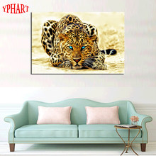 1 Piece picture Hot Sell Abstract Leopard Modern Home Wall Decor painting Canvas Art HD Print Painting for living room(China)