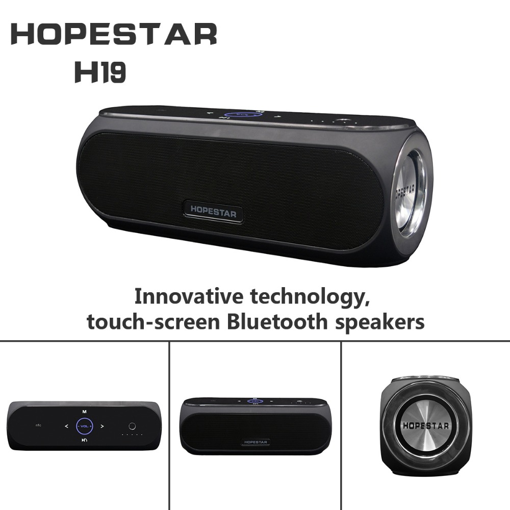 24W Portable Speakers Bluetooth-Column Touch Control Outdoor Bass Speaker Wireless Loudspeaker Subwoofer Sound Box for Phone 20w portable wooden high power bluetooth speaker dancing loudspeaker wireless stereo super bass boombox radio receiver subwoofer