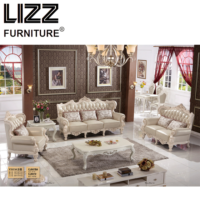 Luxury Furniture Chesterfield Genuine Leather Sofas For Living Room Royal Furniture  Sofa Loveseat Armhair Sofa Set