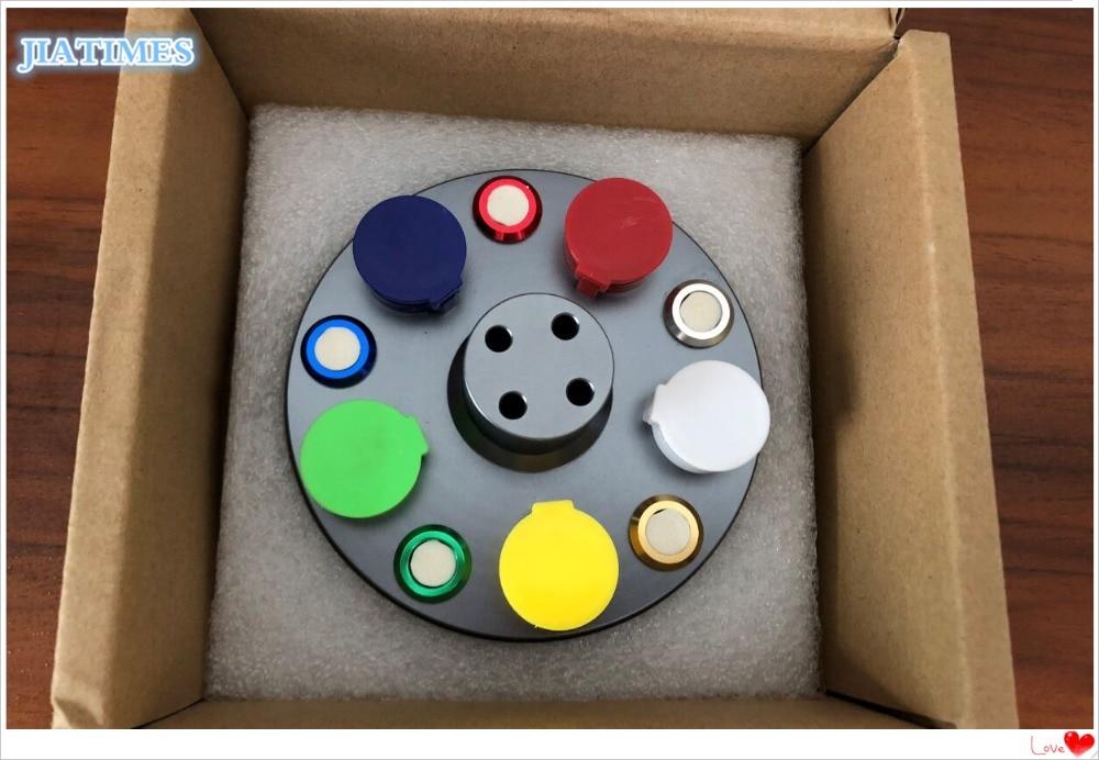 Saatler'ten Onarım Araçları ve Kitleri'de Yeni 6875 Tarzı döner stant 5 Yağ Bardak Kapakları profesyonel saat onarım seti