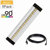 Silver 6 Inch LED Under Cabinet Lighting CRI90 SMD2835 5V 3W 5W Fluorescent Tube Equivalent 160LM