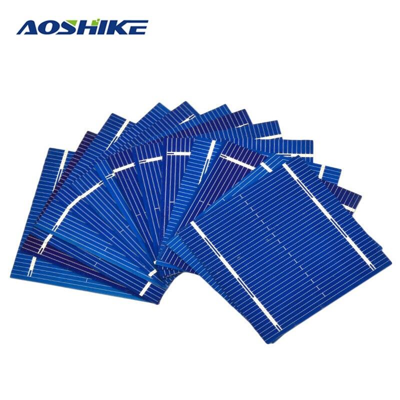Aoshike 100Pcs Solar Panel Solars Cell 0 5V 0 46W Color Crystal Solar Module DIY Battery