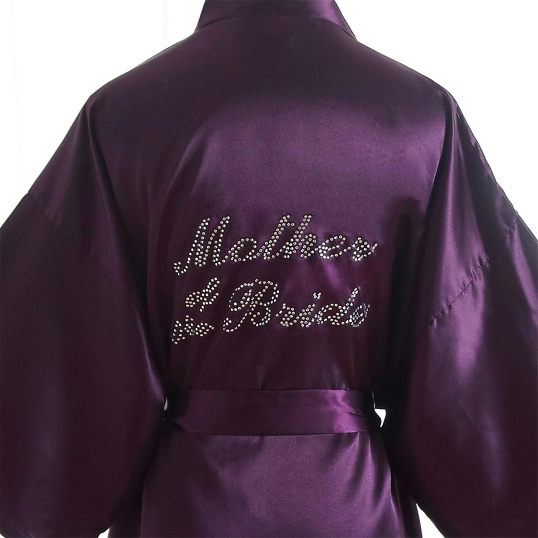 """""""mutter Der Braut"""" Hochzeit Robe Strass Dressing Bademantel Kleid Frauen Sexy Kosmetische Tragen Nachthemd Rayon Kimono Nachtwäsche In Vielen Stilen"""