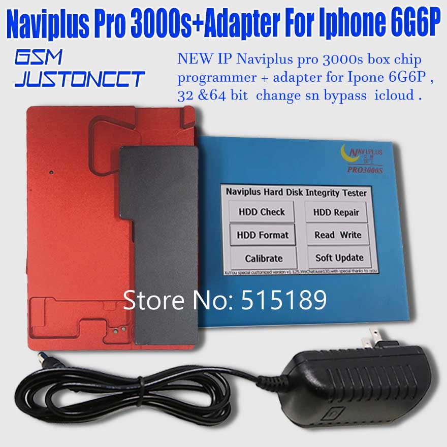 Naviplus Pro3000s programmer + adapter for iphone 6g6p- GSMJUSTONCCT -A