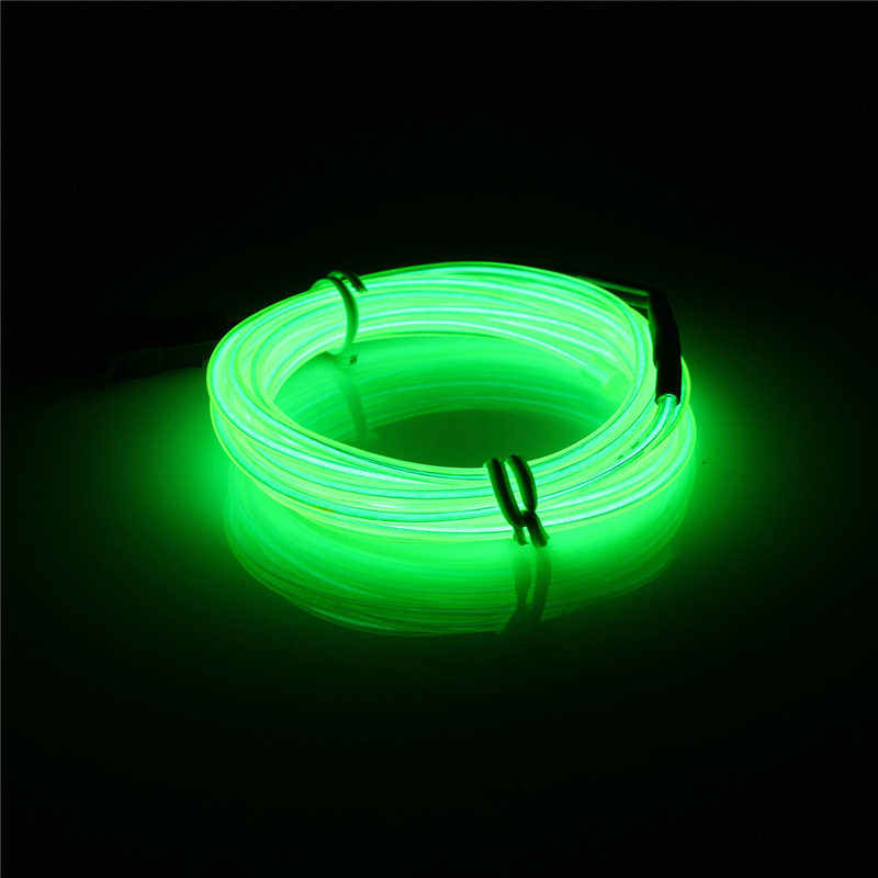 1M EL Soft Tube Strips Neon WIre For Home House Car Auto Decoration Bendable Flexible Party Events Deco EL Glow Rope