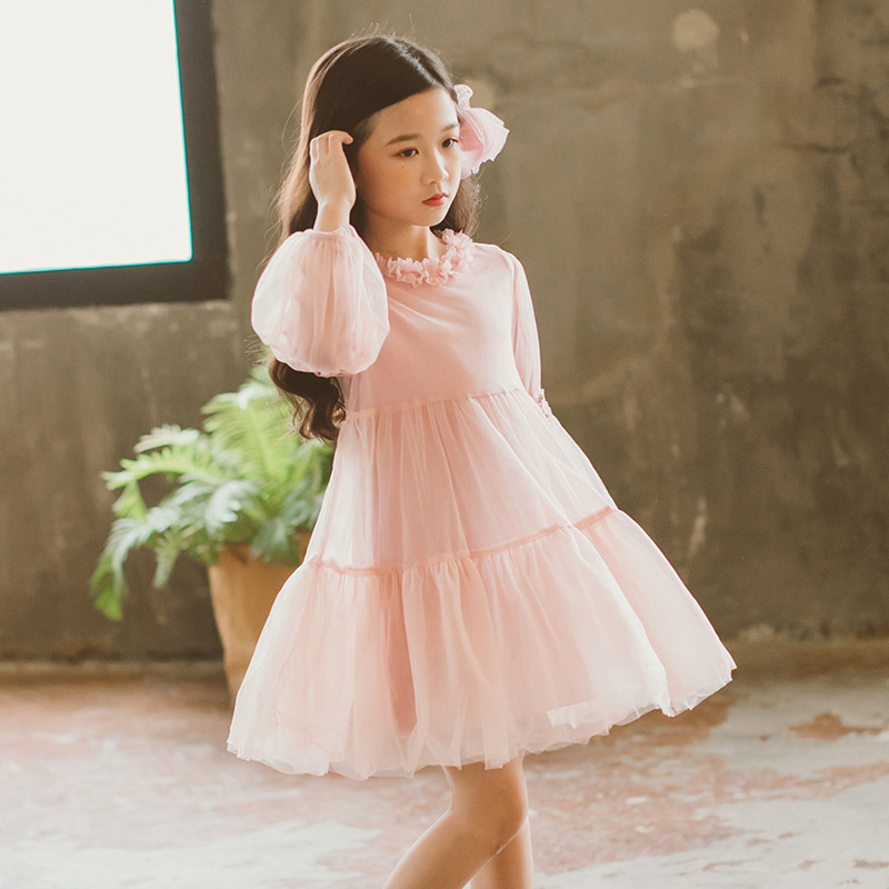 Kids Girl Ball Gown Dress New Toddler Girl Summer Lace Dress 3-10 Year Princess Birthday Party Dress Children Clothing CC810 2017 summer new lace vest girl dress baby girl princess dress 3 7 age chlidren clothes kids party costume ball gown beige