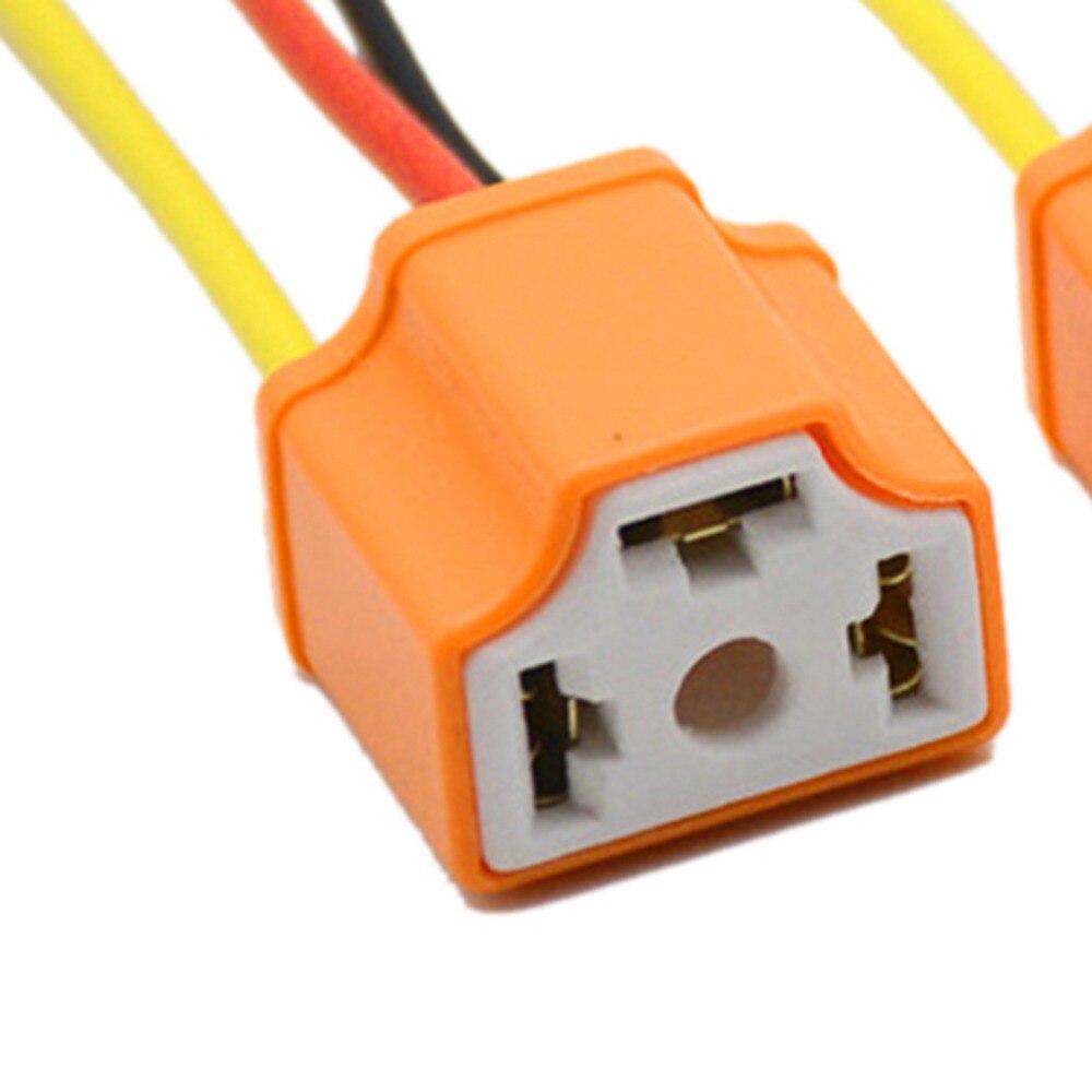NEW2pcs 9003 h4 h7 LED Керамический провод жгута проводов разъем розетки лампы pigtail разъем h4 h7 светодиодные лампы держатели для автомобильных фар