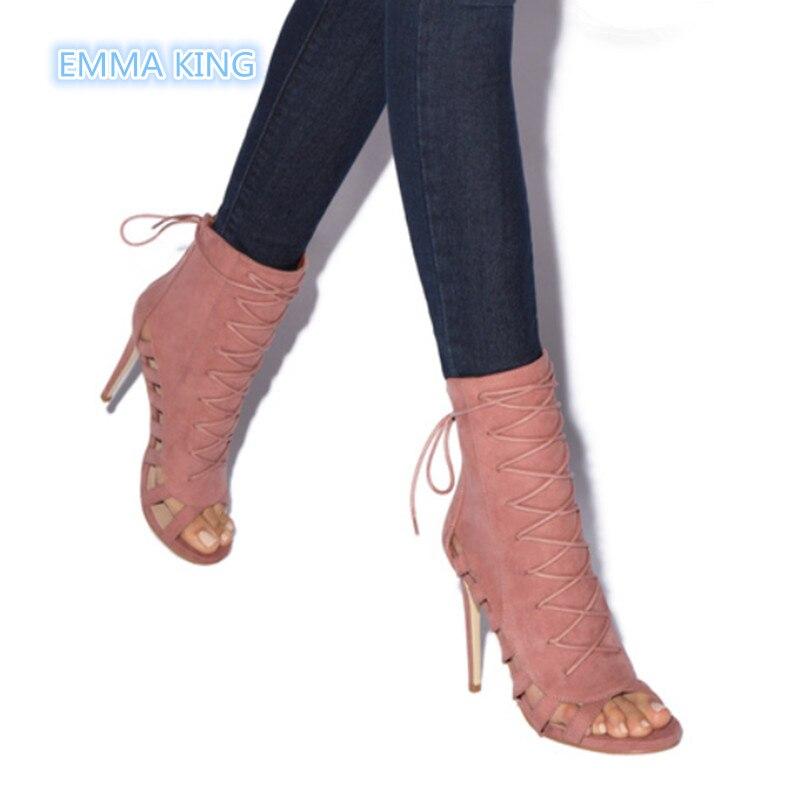 À Picture Zipper Femmes Retour Printemps Sexy Picture Mode As Cut Chaussures Creux as Bottines Lacets Dames Talons Chaussons Automne Toe out Peep Hauts Romain 5zn1zAwqT