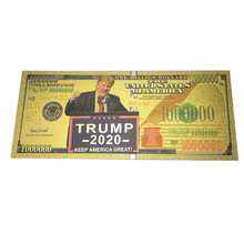 New Design Trump one Million Dollar Gold Foil Banknote 100000 100 1000 The President USD banknote