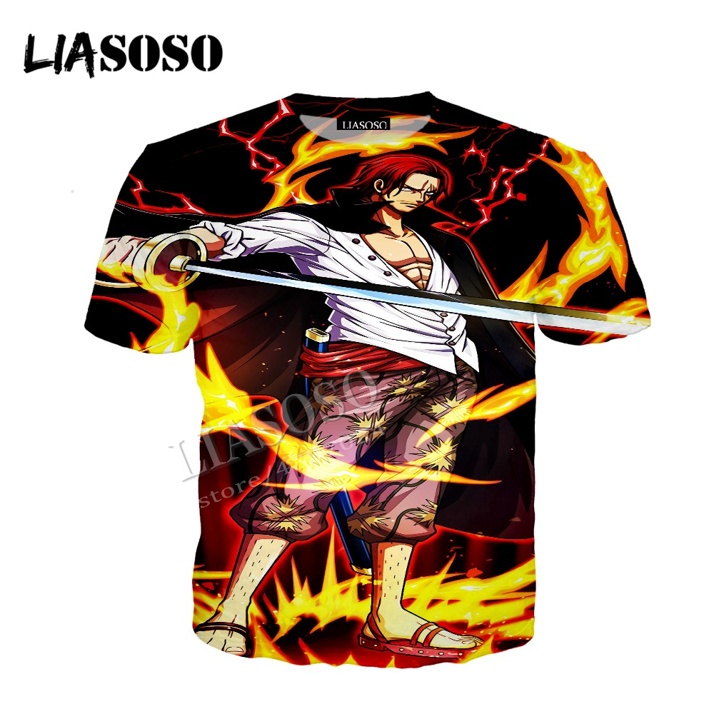 LIASOSO latest 3D printing cozy polyester shirt Japan anime One Piece collection zipper hooded shirt men women sportswear CX467