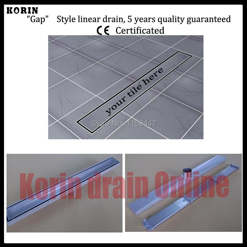 Drain de douche linéaire 700 en acier inoxydable 304mm, Drain Vertical, déchets de sol, drain de sol Long, canal de douche