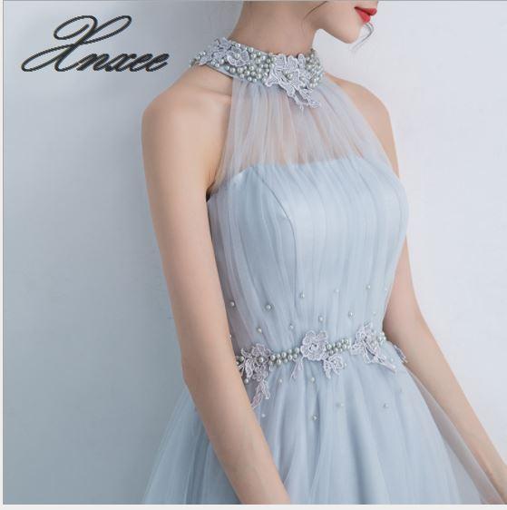 Vestido 2019 nueva moda ajustado partido colgante cuello vestido femenino verano-in Vestidos from Ropa de mujer    2