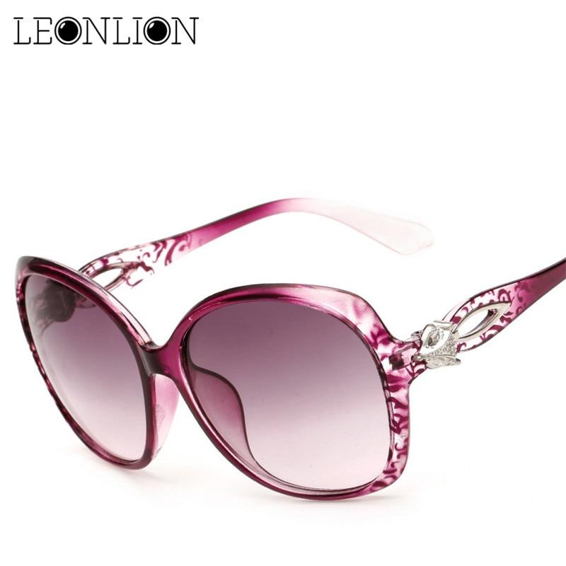 LeonLion 2019 Ladies Vintage Sunglasses Women Brand Designer Gradient Lens Travel Big Frame Sun Glasses Oculos De Sol Gafas